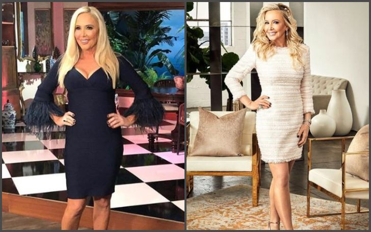 Shannon Beador in a before after photo following her weight loss journey.