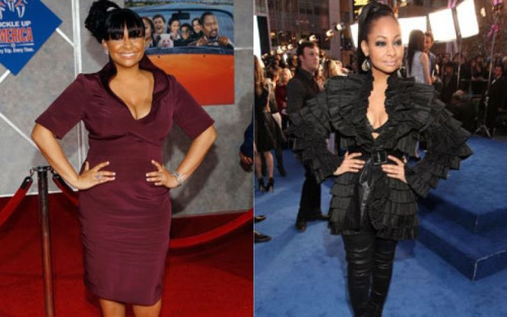 Raven Symone before and her weight loss journey.