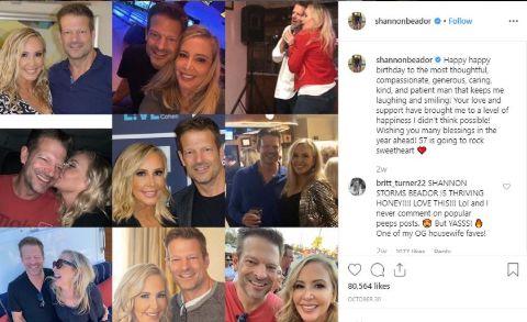 Shannon Beador's Instagram post of her boyfriend's collage.