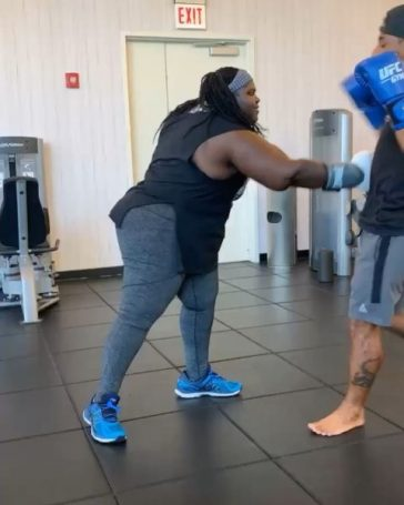 Gabourey Sidibe plays boxing and other sports to keep her weight in check.