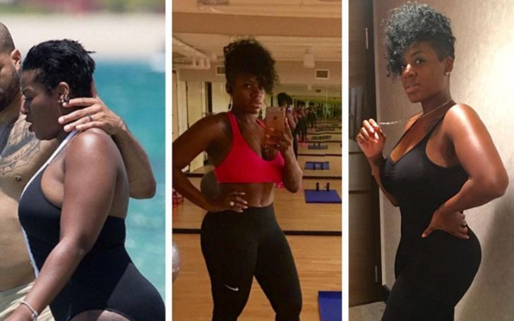 Fantasia Barrino' body tranformation photo.