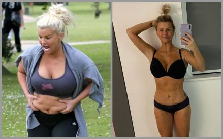Atomic Kitten Star Kerry Katona has a flat tummy now as opposed to her flabby stomach several months ago all thanks to her weight loss journey.