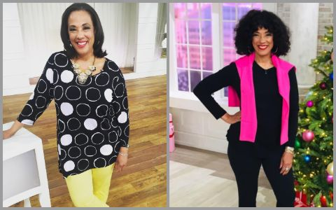 Leah Williams before weight loss in 2016 and after in 2019.