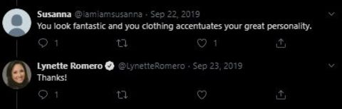 Lynette Romero replied to her fan but doesn't say anything about her weight loss!