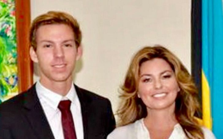 Eja Lange with his mom, Shania Twain.