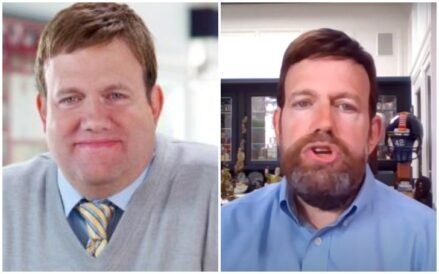 Frank Luntz before and after his weight loss journey.