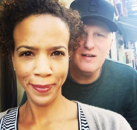 Michael Rapaport with wife, Kebe Dunn.