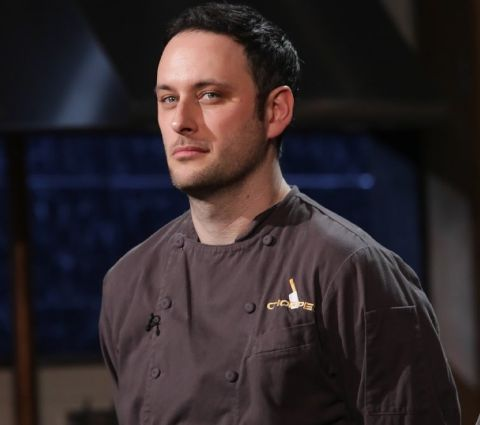 Noah Galuten on Food Network's Chopped.