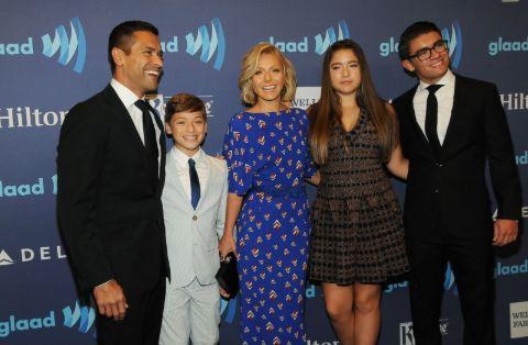 Michael Joseph Consuelos with his family.