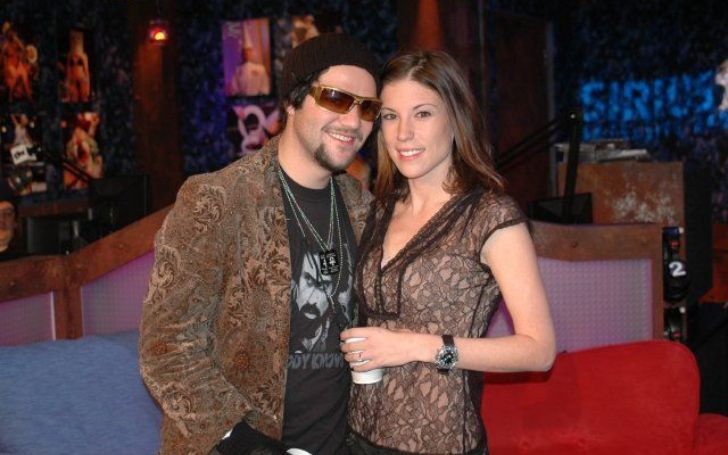 A photo of Bam Margera and Missy Rothstein.