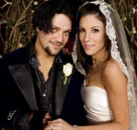 Missy Rothstein and Bam Margera's wedding picture.