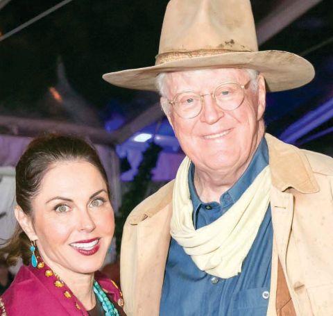 A photo of Bridget Rooney and Bill Koch.