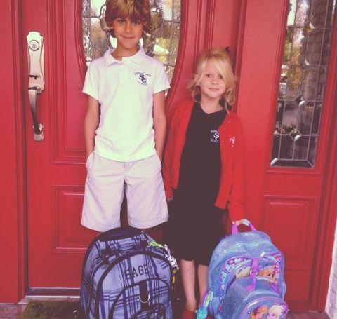 Brooke Daniells' two kids.