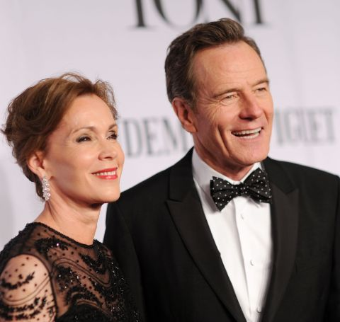 A picture of Bryan Cranston and Robin Dearden.