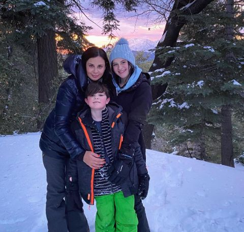 Catherine Bell with her kids.