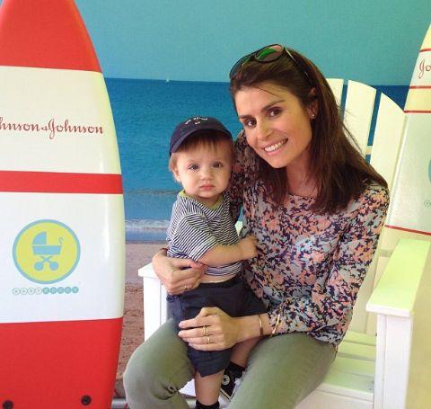 Floinka Pesenti with her son, Everett Floyd Abrams.