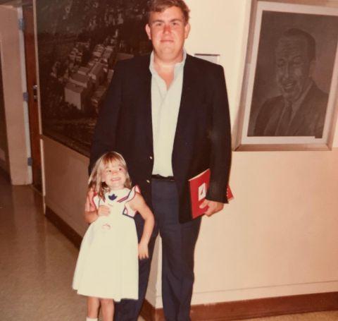 John Candy alongside his daughter, Jennifer Candy.
