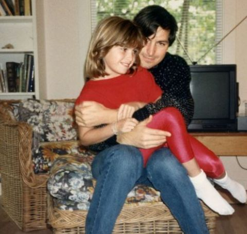 Lisa Brennan Jobs with her father, Steve Jobs during childhood.
