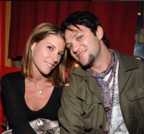 A photo of Missy Rothstein and Bam Margera.