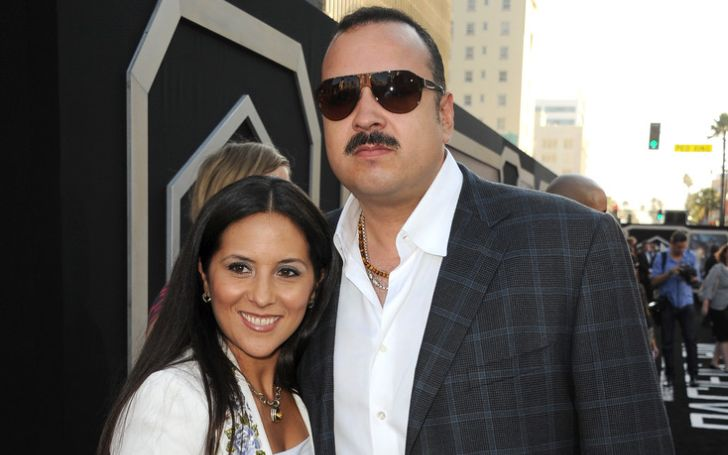 """Singer/songwriter Pepe Aguilar (R) and Anelisse Aguilar arrive at the premiere of Warner Bros. Pictures' and Legendary Pictures' """"Pacific Rim"""" at Dolby Theatre on July 9, 2013 in Hollywood, California."""