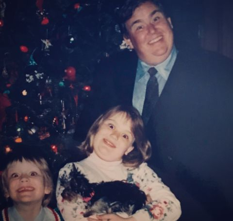 John Candy with his kids, Jennifer and Chris.