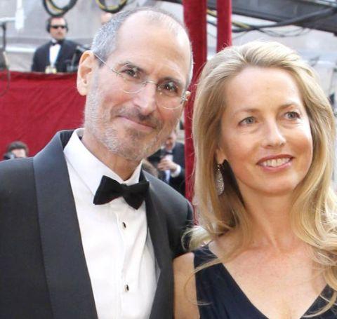 Steve Jobs with his wife Laurene Powell Jobs.