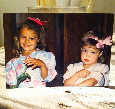 Annie Costner with Sister Lily Costner during childhood.