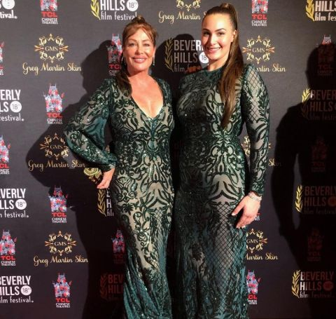 Kelly and Arissa Le Brock at a red carpet event.