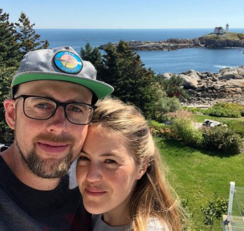 A selfie of Lily Costner and Aaron Mortenson.