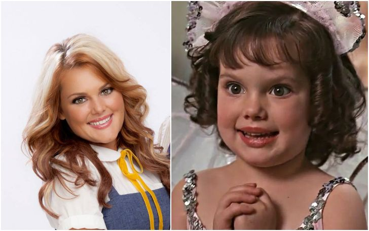 A collage of Brittany Ashton Holmes and her as Darla.