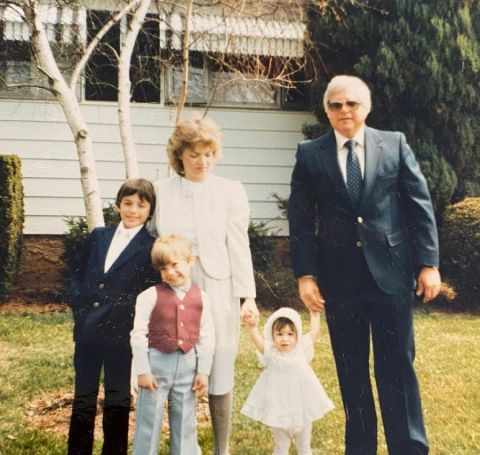 Cheryl Scott with Her Parents and Siblings.