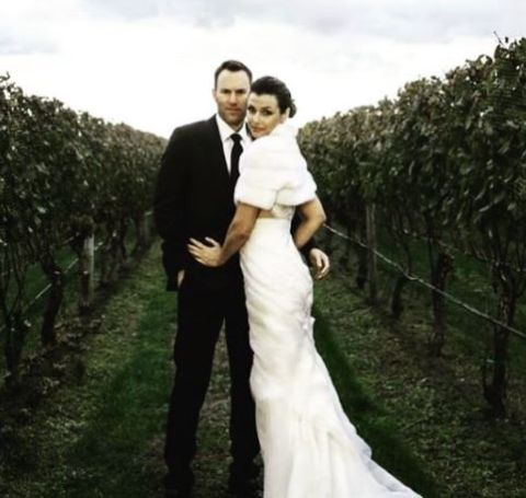 Bridget Moynahan and Andrew Frankel's wedding picture.
