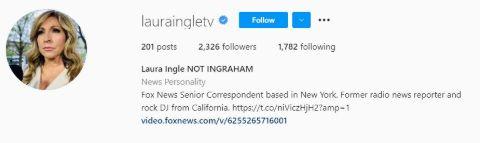 Laura Ingle's Instagram Bio Snapshot.